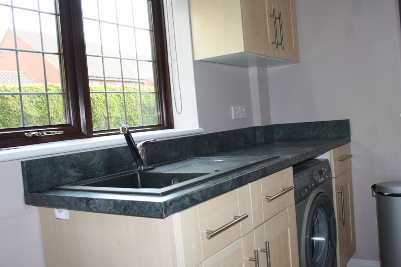 Kitchen design gallery uk - Main Kitchen New Worktop End Cut And Edged Upstand Fitted