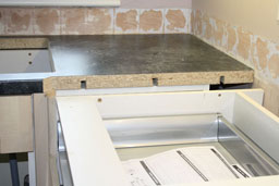 Kitchen Worktop Cutting and Mitering 10